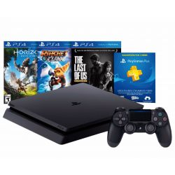 CONSOLA SONY PS4 SLIM 500GB SLIM + 3 JUEGOS