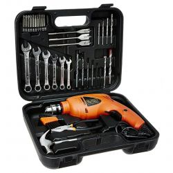 KIT TALADRO BLACK&DECKER HD455KA 10MM