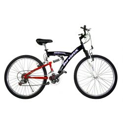 BICICLETA RODADO 26 MTB BRONX ACERO 21 VEL. DOBLE SUSPENSION 815-915
